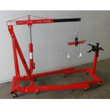 Engine Hoist 2Ton Engine Lifter 2000lbs Inc Engine Stand 1250lbs & Engine Leveller  JL-E03012-SetC